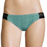 Arizona Set Up Diamond Low-Rise Hipster Swim Bottom - Juniors