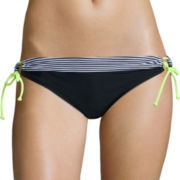 Arizona Sailor Stripe Keyhole Hipster Swim Bottom - Juniors