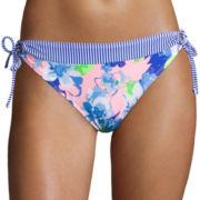 Arizona Full Bloom Floral Keyhole Hipster Swim Bottom - Juniors