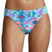 Arizona Tribal Fusion Side Tab Hipster Swim Bottom - Juniors