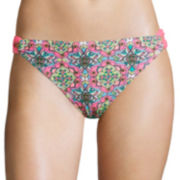 Arizona Medallion Loop-Tab Hipster Swim Bottom - Juniors