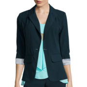 by&by Long-Sleeve Cuffed Blazer