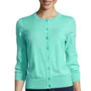 St. John's Bay® Button-Front Cardigan Sweater