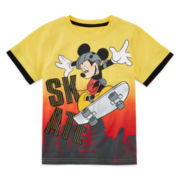 Disney Apparel by Okie Dokie® Short-Sleeve Mickey Mouse Tee - Preschool Boys 4-7