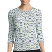 Liz Claiborne® 3/4-Sleeve Knit Top