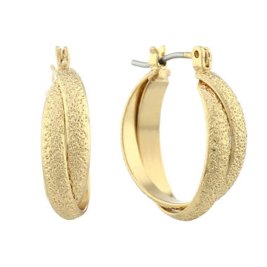 jcpenney.com | Liz Claiborne Hoop Earrings