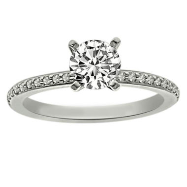 jcpenney.com | Womens 5/8 CT. T.W. Round White Diamond Platinum Solitaire Ring