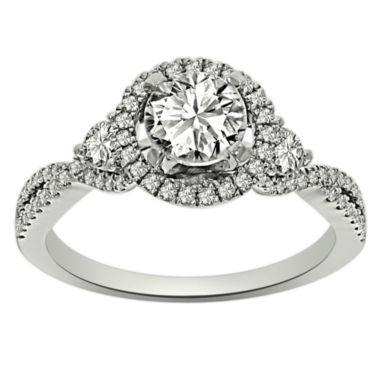 jcpenney.com | Womens 1 1/4 CT. T.W. Round White Diamond Platinum Engagement Ring