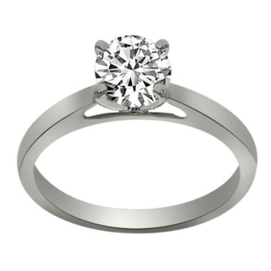 jcpenney.com | Womens 3/4 CT. T.W. Round White Diamond Platinum Solitaire Ring