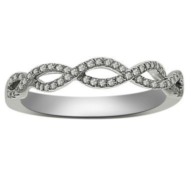 jcpenney.com | Womens 1/6 CT. T.W. White Diamond Platinum Wedding Band
