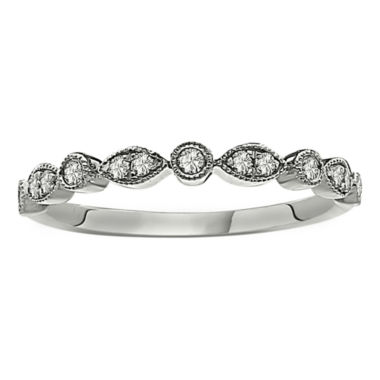 jcpenney.com | Womens 1/5 CT. T.W. White Diamond Platinum Band