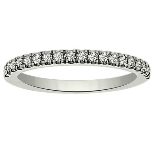 Womens 1/4 CT. T.W. White Diamond Platinum Wedding Band
