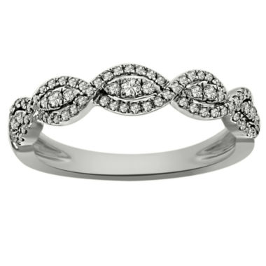 jcpenney.com | Womens 1/3 CT. T.W. White Diamond Platinum Band