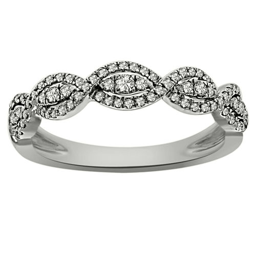 Womens 1/3 CT. T.W. White Diamond Platinum Band