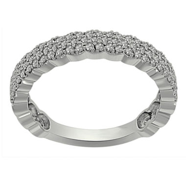 jcpenney.com | Womens 3/8 CT. T.W. White Diamond Platinum Band