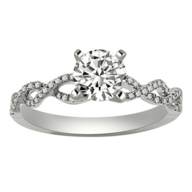 jcpenney.com | Womens 1/2 CT. T.W. Round White Diamond Platinum Engagement Ring