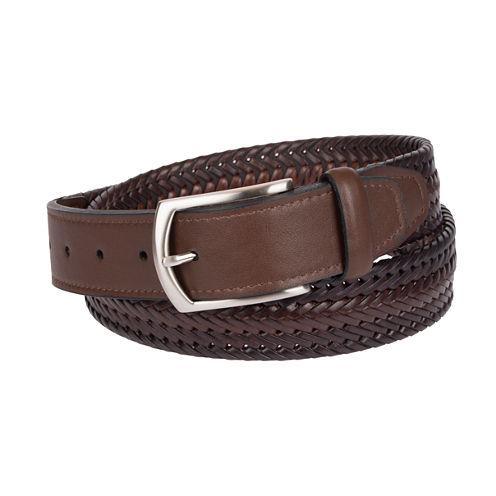 Dockers Brown Braided Belt