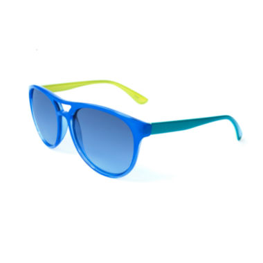 jcpenney.com | Blue and Green Aviator Sunglasses