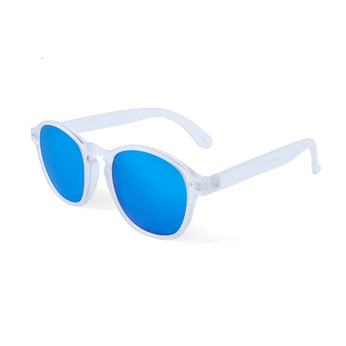 Clear Sunglasses with Blue Lens