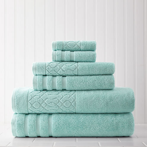 Pacific Coast Textiles Kiev Jacquard 6-pc. Bath Towel Set