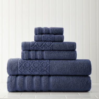 jcpenney.com | Pacific Coast Textiles Velour Diamond 6-pc. Bath Towel Set