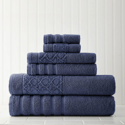 Pacific Coast Textiles Velour Diamond 6-pc. Bath Towel Set