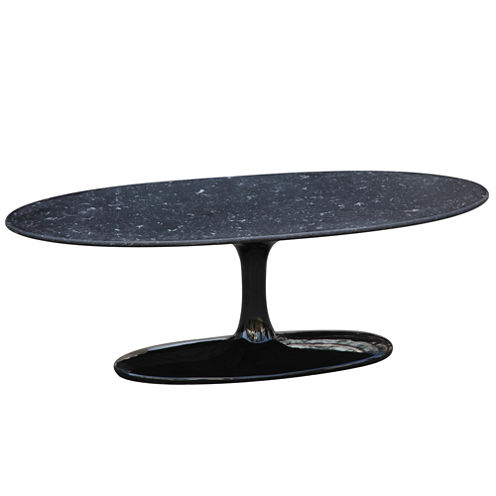 Marble Top Flower Coffee Table
