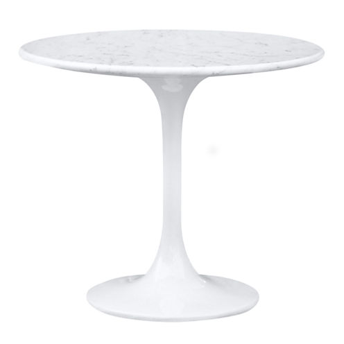 Marble Top Flower End Table