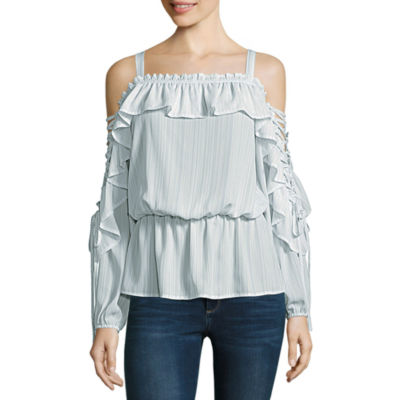 Belle + Sky Lace Up Side Top by Belle + Sky