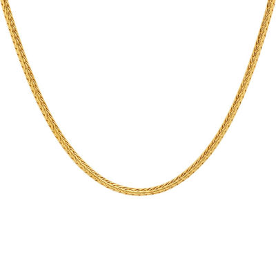 gold style rhodium j white steel initial products elaina necklace stainless none
