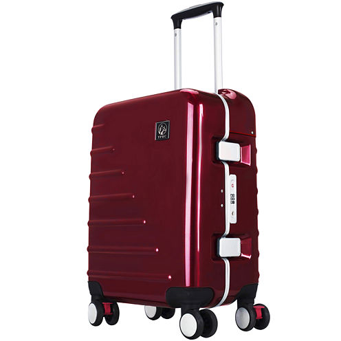 "Seat-On Rolling 20"" Carry-On Spinner Upright Luggage"