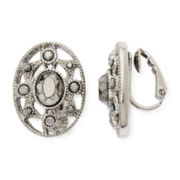 Liz Claiborne® Marcasite Starburst Clip-On Earrings
