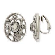 Liz Claiborne® Marcasite Starburst Clip-On Earrings