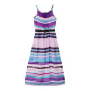 by&by Girl Sleeveless Belted Maxi Dress – Girls 7-16 and Plus
