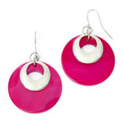 Mixit™ Pink Shell Round Earrings