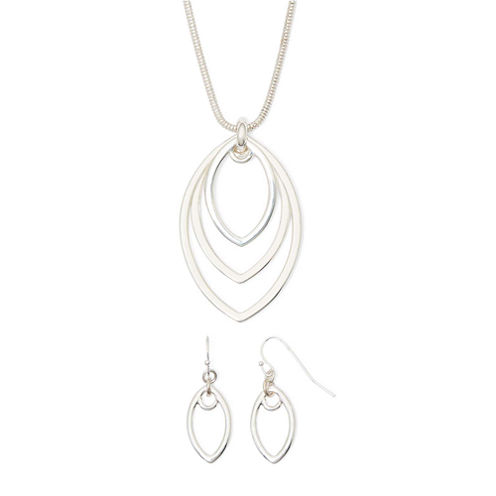 Liz Claiborne® Two-Tone Openwork Earring and Necklace Set