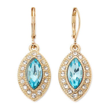 jcpenney.com | Monet® Blue and Gold-Tone Drop Earrings