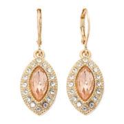 Monet® Orange and Gold-Tone Drop Earrings