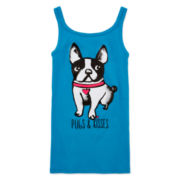 Total Girl® Printed Ribbed Tank Top - Girls 7-16 and Plus