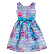 Lavender By Us Angels Sleeveless Floral Dress - Preschool Girls 4-6x