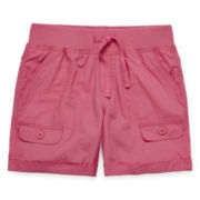 Arizona Mid Thigh Cargo Shorts - Girls 7-16 and Plus