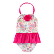 Sol Swim Paisley Dancer One-Piece Swimsuit - Toddler Girls 2t-4t