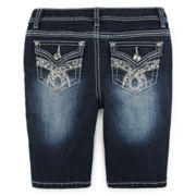 Revolution by Revolt™ Embellished Denim Shorts - Girls 7-16 and Plus