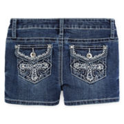 Revolution™ Embellished Denim Shortie Shorts - Girls 7-16 and Plus