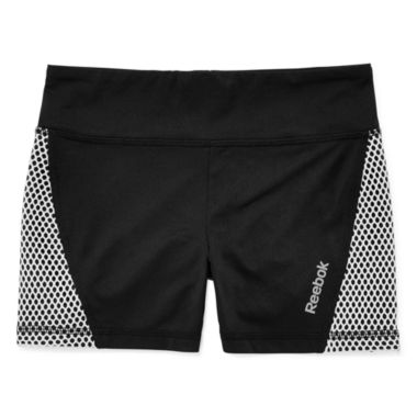 jcpenney.com | Reebok® Perforated Woven Shorts - Girls 7-16