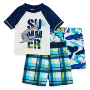 Toddler Blue 3-pc. Swim Set - Boys 2t-4t