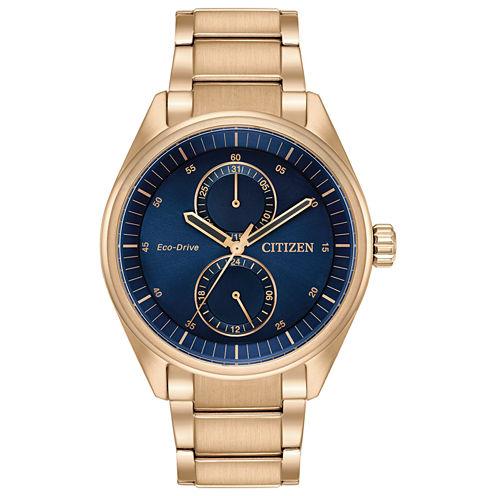 Citizen Mens Rose Goldtone Bracelet Watch-Bu3013-53l
