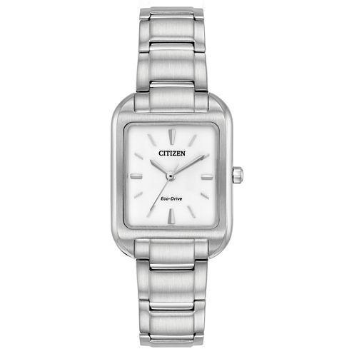 Citizen Womens Silver Tone Bracelet Watch-Em0490-59a