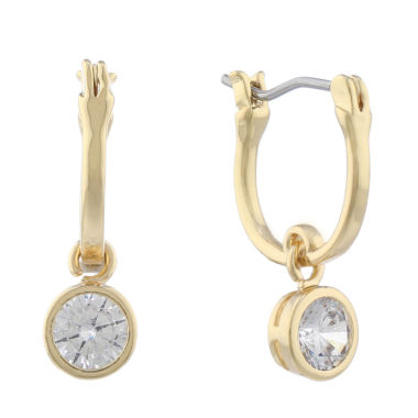 jcpenney.com | Gloria Vanderbilt Cubic Zirconia Hoop Earrings