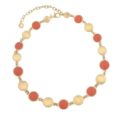jcpenney.com | Gloria Vanderbilt Womens Orange Collar Necklace